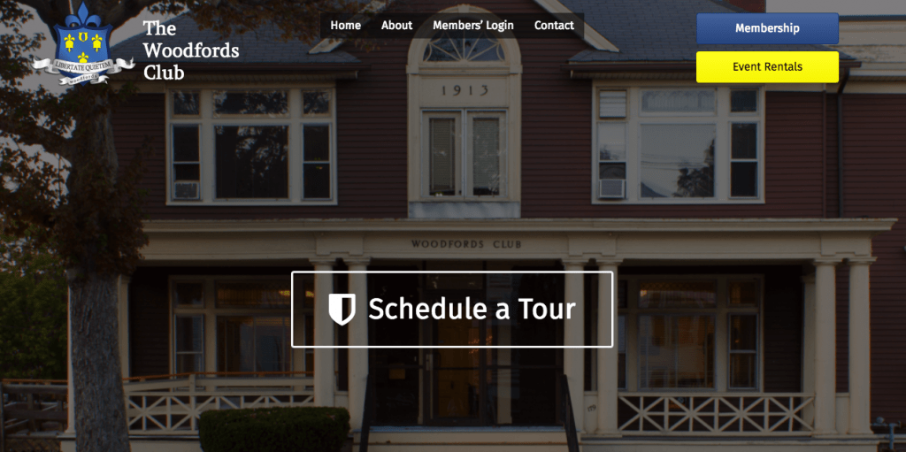 woodfords club website redesign